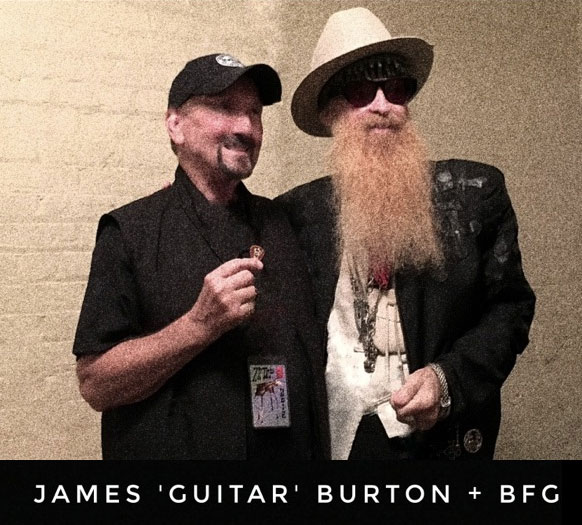 Billy and James stop for a photo-moment backstage at the Municipal Auditorium in Shreveport - photo: allison banks